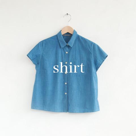 | 一点一点手染めの草木染シャツ