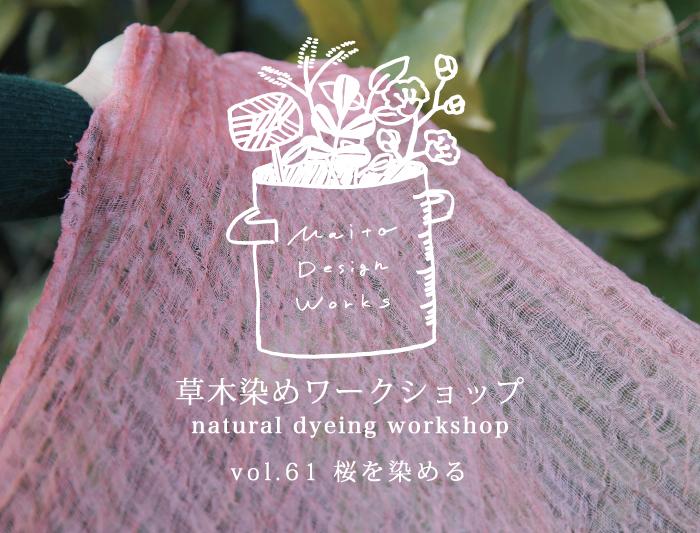 2/23・24 蔵前 草木染めワークショップ~桜を染める~
