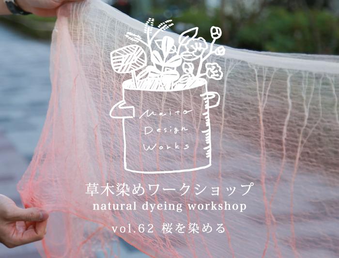 3/23・24 蔵前 草木染めワークショップ~桜を染める~