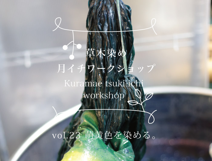 12/5・6  蔵前 草木染めワークショップ 〜萌黄色を染める〜
