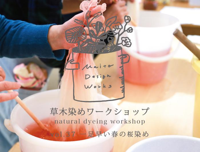 2/19・20 蔵前 草木染めワークショップ ~桜染め〜