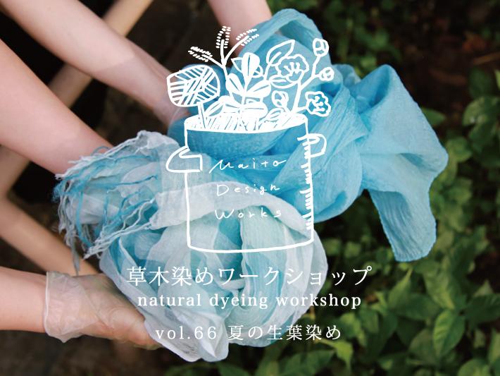 7/14 蔵前 草木染めワークショップ ~夏の生葉染め~