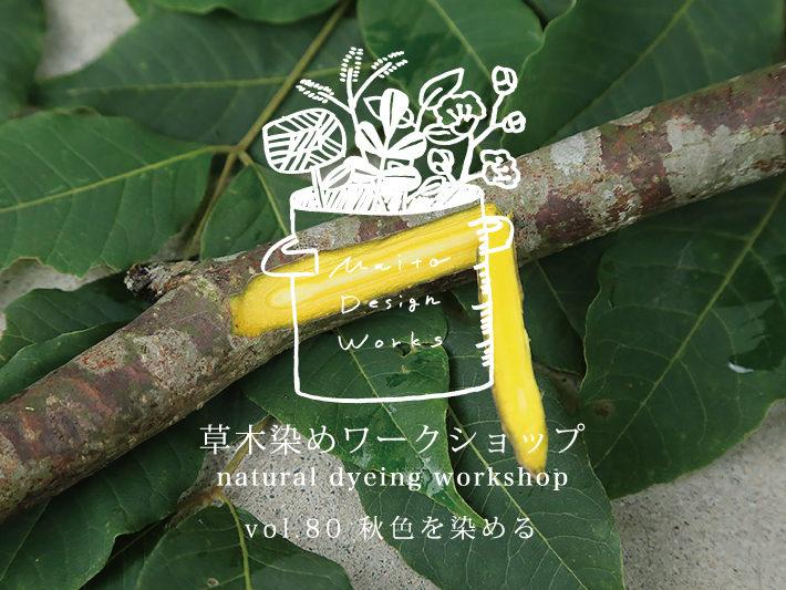 9/27・28 草木染めワークショップ ~秋色を染める~