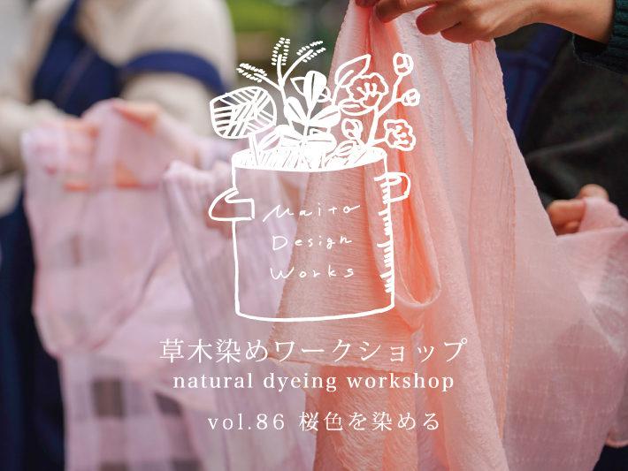 3/13・14 草木染めワークショップ ~桜を染める~