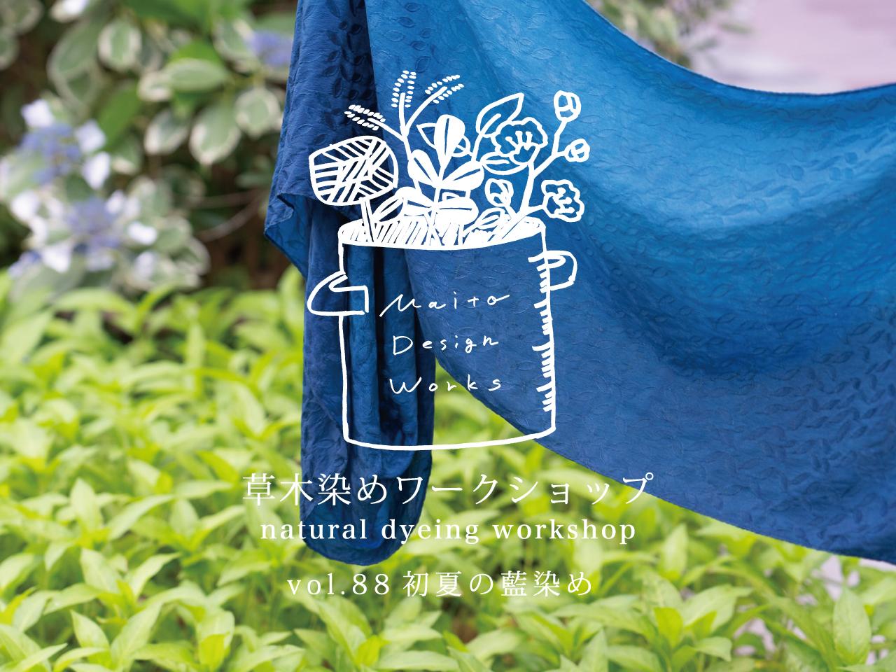 6/26・27・28草木染めワークショップ ~初夏の藍染め~