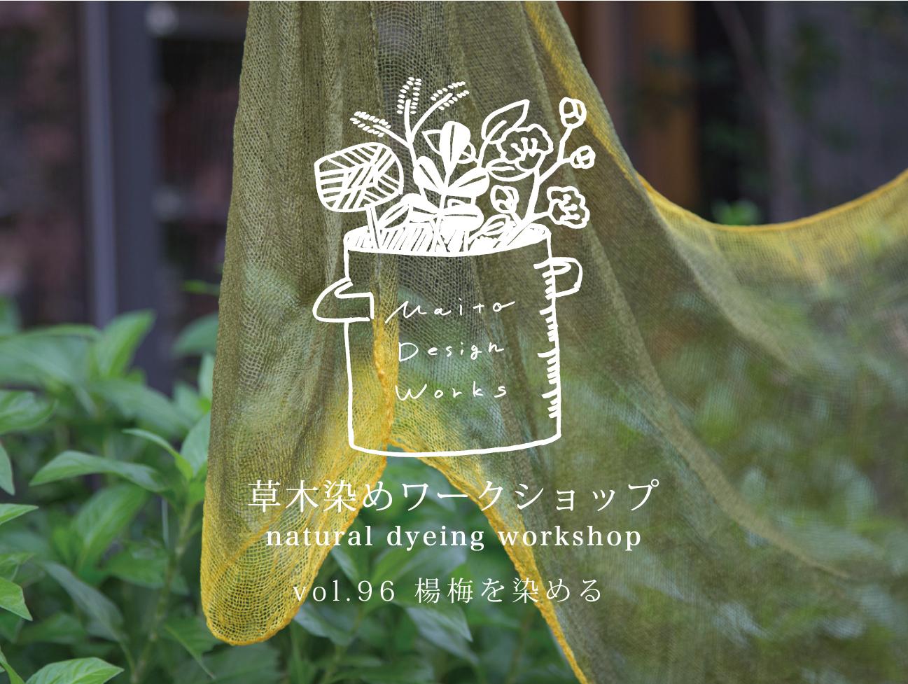 2/19・20・21草木染めワークショップ ~楊梅を染める~