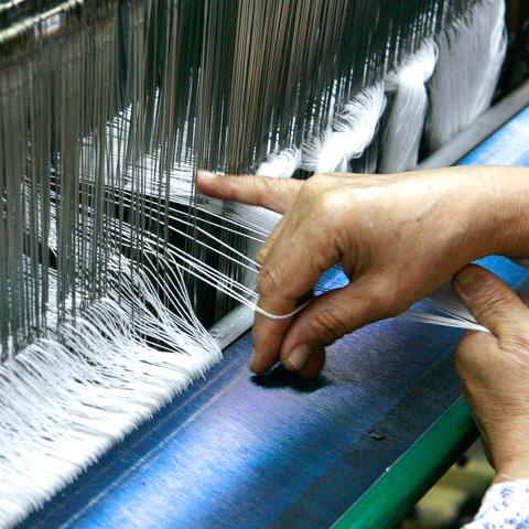 倉敷で織った草木染帆布 メイン画像