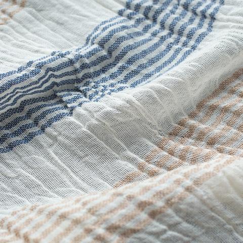 力織機で織り上げた草木染めのストール メイン画像